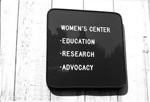 Women's Center Sign