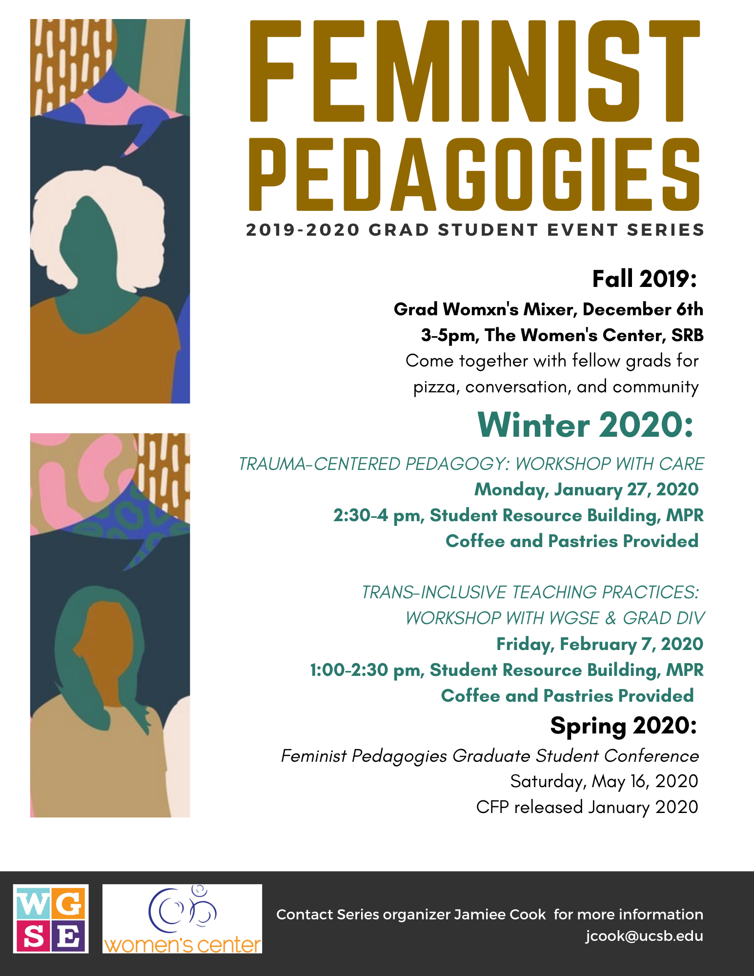 Feminist Pedagogies Series Flier Winter 2020 Events 1-6
