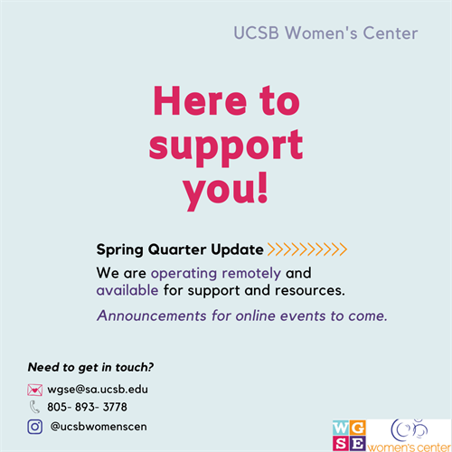 women's center spring quarter announcement
